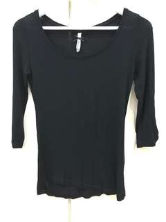 Stradivarius Black Basic Long Sleeve