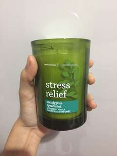 Candle aromatherapy stress relief bath and body works