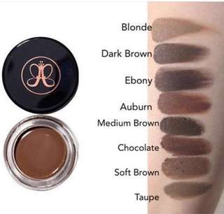 Anastasia Beverly Hills Dipbrow Pomade Soft Brown Dark Brown Ebony
