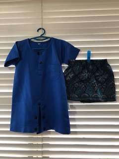 Baju Melayu romper & sampin