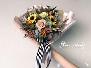 Graduation Bouquet (Preserved Flower & Dried Flower)