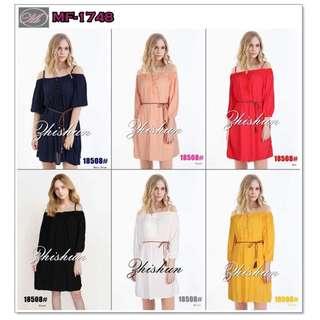 CODE: MF-1748 Cold Shoulder Dress