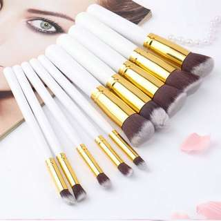 kabuki 10 pcs professional makeup brush set