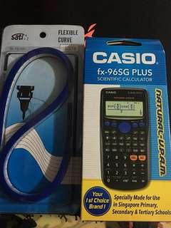 Casio Calculator and Curve Ruler