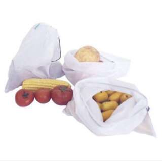Reusable mesh Produce/Grocery bags