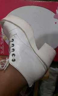 Korean White High Heels Shoes