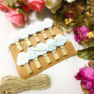 Wooden Clips and Twine Set