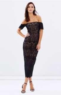 Black Fitted Lace Elle Zeitoune Emmanuel Dress