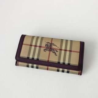 Authentic Burberry Haymarket Wallet
