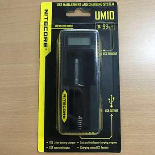 NITECORE UM10 USB Li ion battery charger