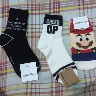 3 for 280 KOREAN SOCKS