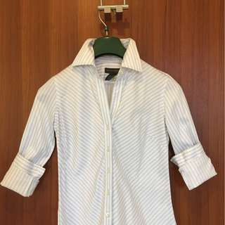 Banana Republic XS button-down office blouse (with light blue stripes)