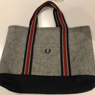 Fred Perry Wool Tote Bag