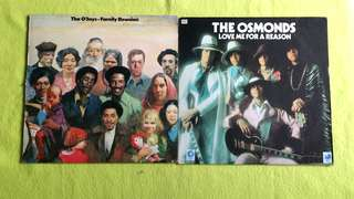 O'JAYS ● THE OSMOND . family reunion / love me for a reason ( 2 items 1 price )  vinyl record