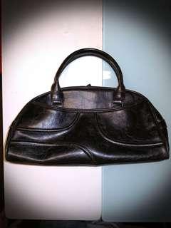80年代絕版真皮日本手袋(保齡球袋款)