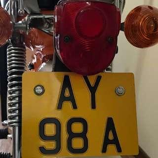 Vintage motorcycle Number / Honda Chaly CF70
