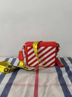 Off White Bag Red (Selempang)