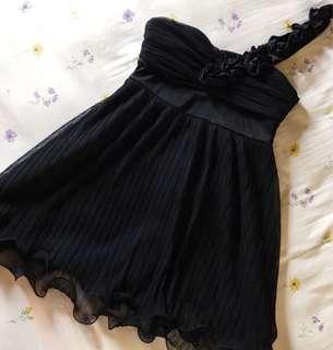 One Strap Dress (Black, L)