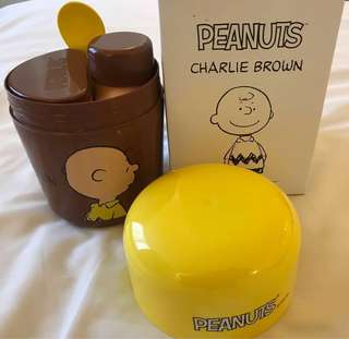 Snoopy / Charlie Brown Breakfast Cereal Container