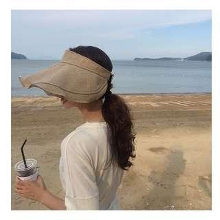 🚚 (四色)韓系海灘艷陽必備遮陽帽