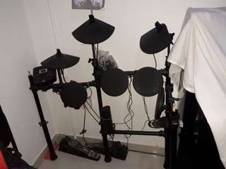 Digital Drum Set with Adjustable Pads and Free Drumsticks