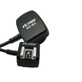 唯卓 OC-E3 Canon 閃光燈TTL線 閃光燈延長線 引閃線 同步線 離機閃光燈 支援TTL 防塵 樂華