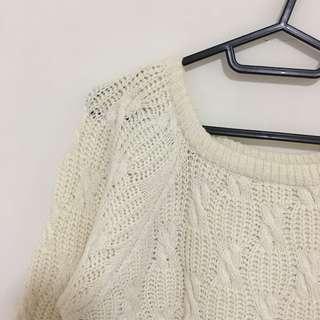 🚚 米白針織上衣