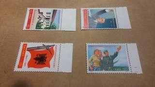 1971年 編25-28 慶祝阿爾巴尼亞勞動成立30週年 全品