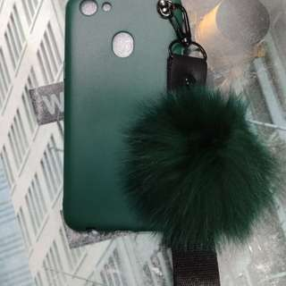Soft Case Oppo F5 with Fox Fur Ball Straps