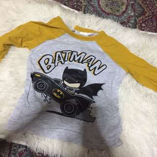 h&m batman yellow raglan