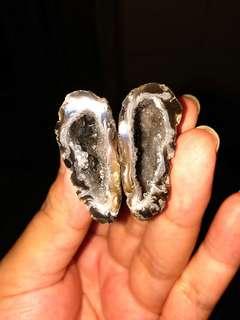 天然水晶洞原礦石 迷你聚寶盆E款套裝 瑪瑙蛋 雷公蛋