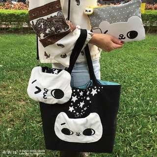 台灣爽爽貓雙面 tote bag