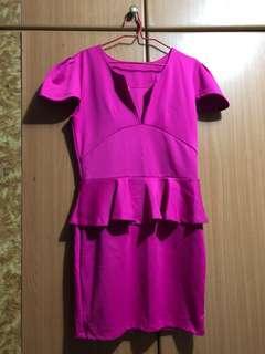 🚚 XL Fushia Pink Stretchable Dress