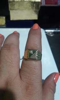 18k saudi gold mens ring size 9