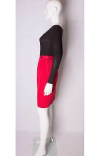 Authentic yves saint laurent rive gauche red skirt