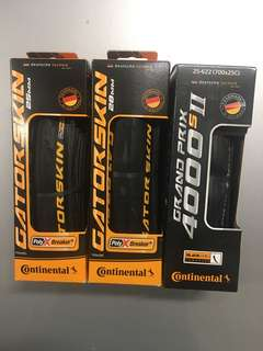 Continental Gatorskin road tyres (25mm and 28mm)