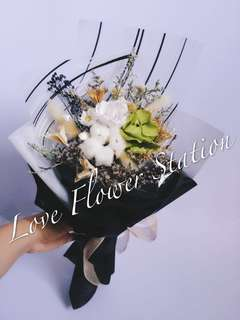 Preserved & Dry Flower Bouquet (Korean Style)-OFFER☝️