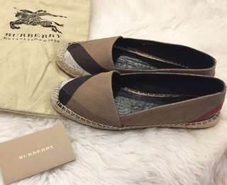 Burberry checked espadrilles size 35