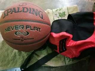 Never Flat Spalding ball