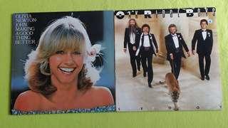 OLIVIA NEWTON JOHN ● OAK RIDGE BOYS . making a good thing better / step on out (2 items 1 price )  vinyl record