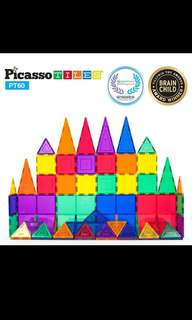 Picasso 60 pcs Magnetic Tiles