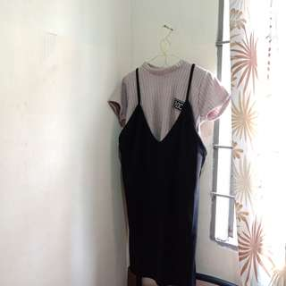 2IN1 SLIP ON DRESS