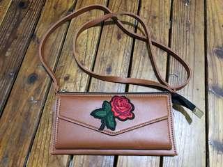 Flower sling bag/wallet