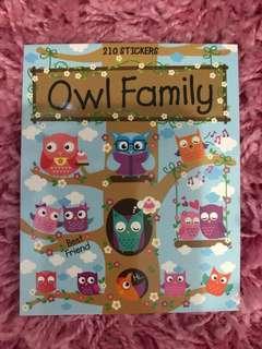 210 Mini Stickers <Owl Family>