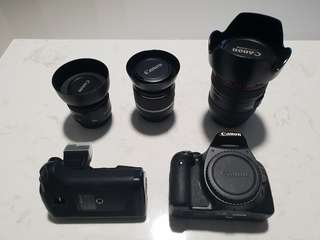 Canon 550D with 3 Lenses
