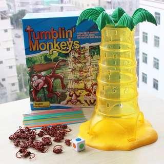 兒童桌遊-翻筋斗/爬樹猴子-親子互動益智玩具-動腦幼教