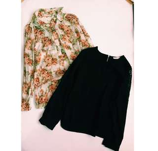 SET. Korean blouses