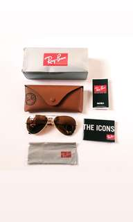 💯 Authentic Ray-Ban Aviator rb3025