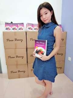 Pure Berry Enzyme 🍓 Detox Slimming Fibre Drinks Slim down Diet