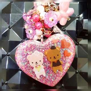 Couple Bear Keychain / Bag Charm